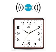 Factory direct supplying remote monitoring wifi wall clock with a video camera BS-W18A