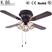 42 Inch Modern Fancy Crystal Ceiling Mounted Fan Manufacturer Electric Ceiling Fan With Light