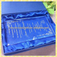 Wholesale Exquisite Cheap Crystal Wedding Gift Card Wording For Guest Takeaway Souvenirs