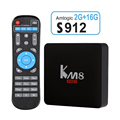 KM8 PRO Smart TV Box Android 6.0 Amlogic S912 Octa-core 2GB/16GB 4K Mini PC 2.4G&5G Wi-Fi1000M Airplay Miracast Bluetooth4.0 Box