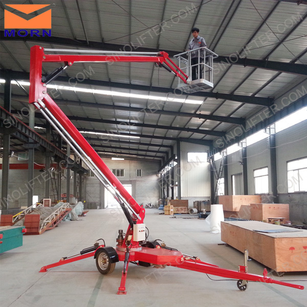 For building cleaning 10m articulating boom lift with speed 60km/h