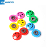 Colorful Round Plastic Fridge Whiteboard Magnet