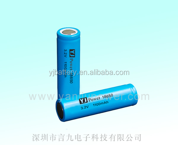 3.2v 15ah lifepo4 battery cell 18650 3.2v 1100mah with rechargeable battery cell for wifi modem ,led strip