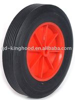 Flat Free Solid Rubber Tire and Poly Wheel 8in