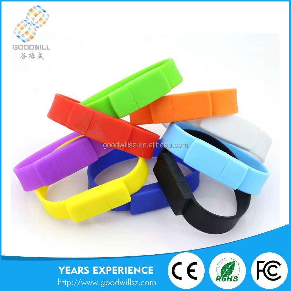 Bracelet Bulk 1/2/4/8/16/32gb Usb Flash Drives Silicone Shaped Usb Bracelet