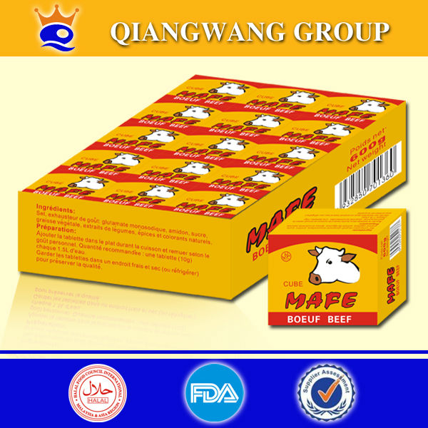 QIANGWANG FACTORY 10G BEEF STOCK CUBE BOUILLON CUBE STOCK FOR COOKING