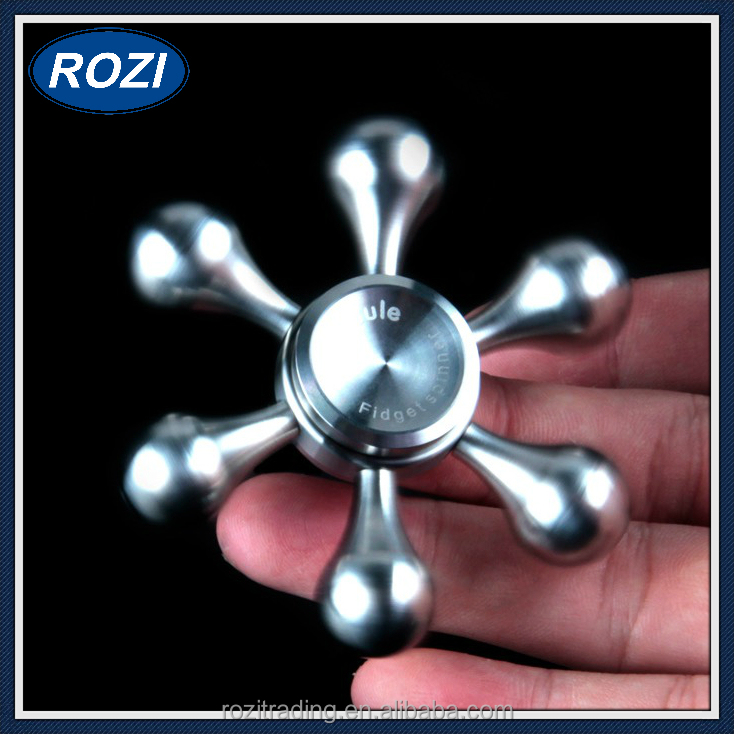 DIY Water Drop Style Stainless Steel Fidget Spinner Hand Spinner