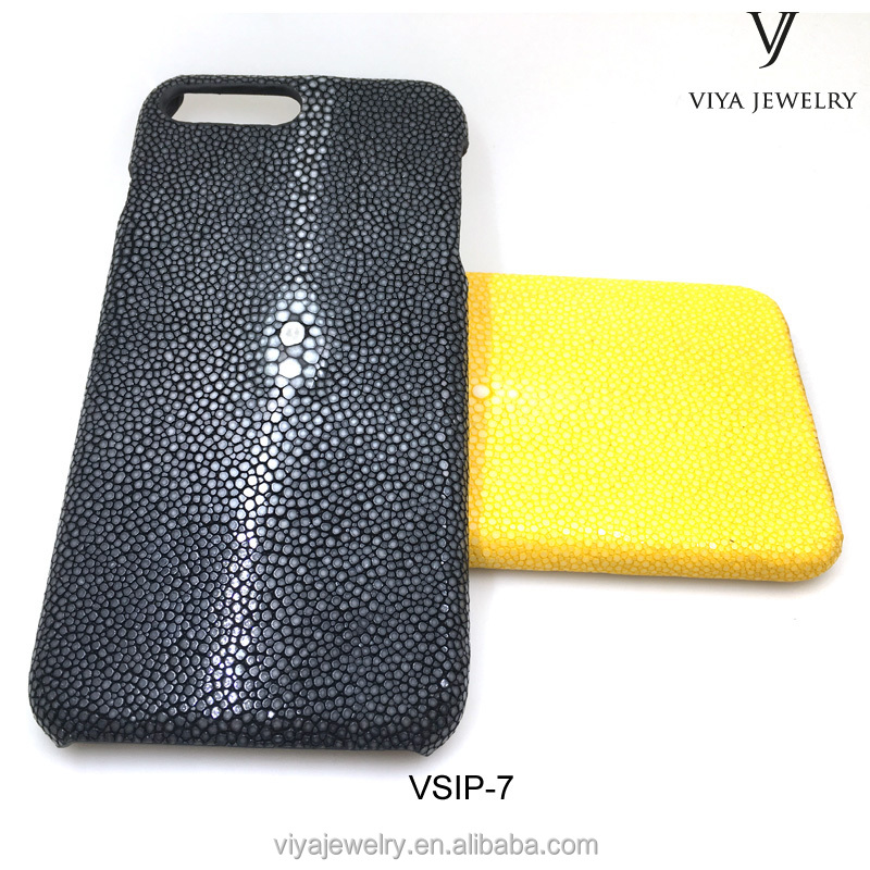Viya Luxury Genuine Leather Case For Phone 7 7S Plus Ultra stingray leather Mobile Phone Back Cover For phone 7 case