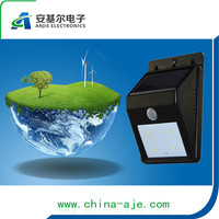 HIGH QUALITY !!! NING BO 12 years no Complaint factory supply black 4 leds sensor solar garden lights