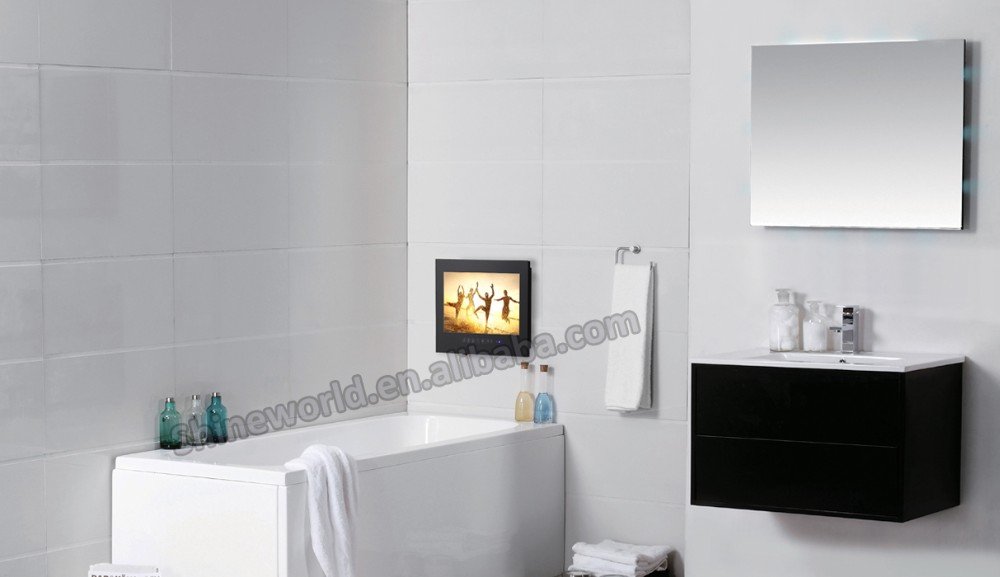 22inch Waterproof Mirror Glass/lcd TV unit