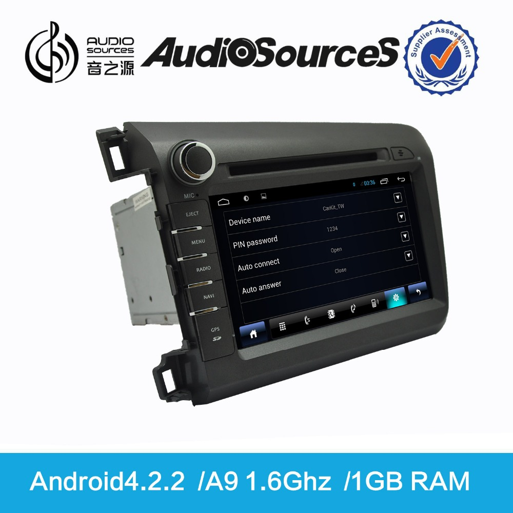 Audiosources HD Android Car DVD with GPS Navigation with Rearview Camera,OPS for Honda with GPS Radio Audio D90-8700