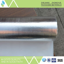 Metalized PET film heat insulation woven fabric with epe with aluminum foil, aluminum foil from china