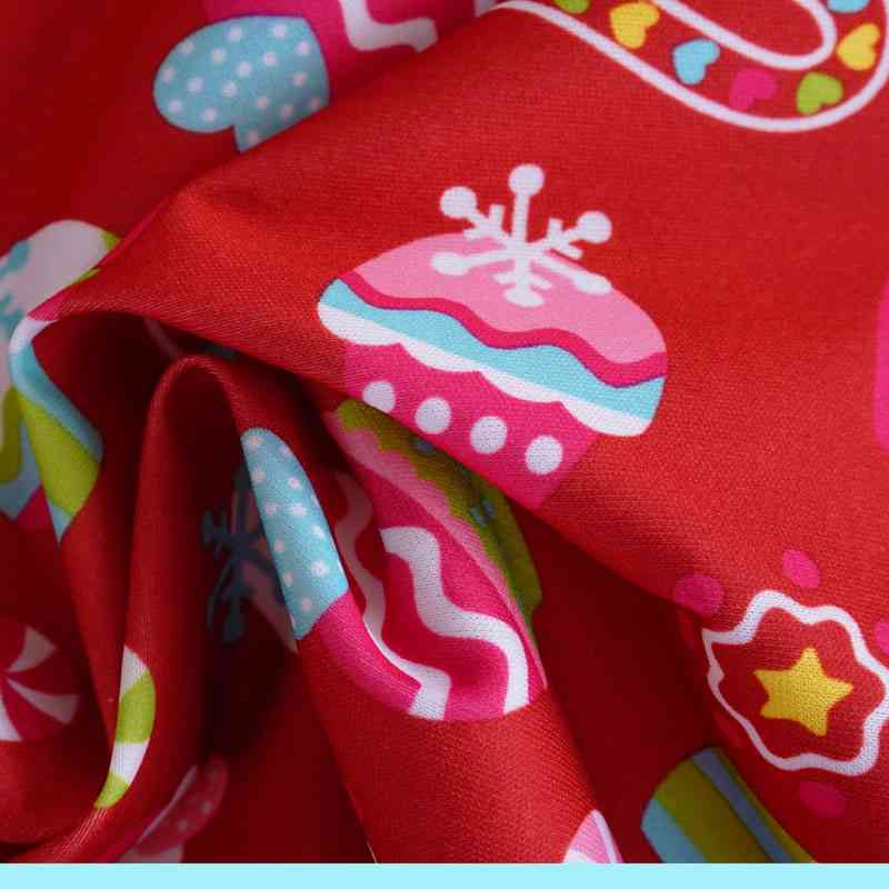Ice Cream Printed Thin Waterproof Warp Polyester Bonded Fabric