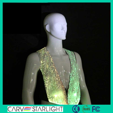 2015 New fasion style luminous fabric led men sexy club wear vests