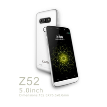 Z52 Capacitive Touch Screen Big Battery Phone 5.0 inch Kimfly Low Price Mobile Phone