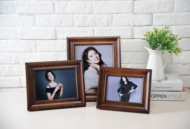 2016 new style pine solid wood photofunia/photo frame/wood 4x4 photo frames