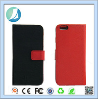 China Price Luxury Fashion Pu Leather Magnet Wallet Flip Case Cover with Built-in Credit Card / ID Card Slots For Iphone 5