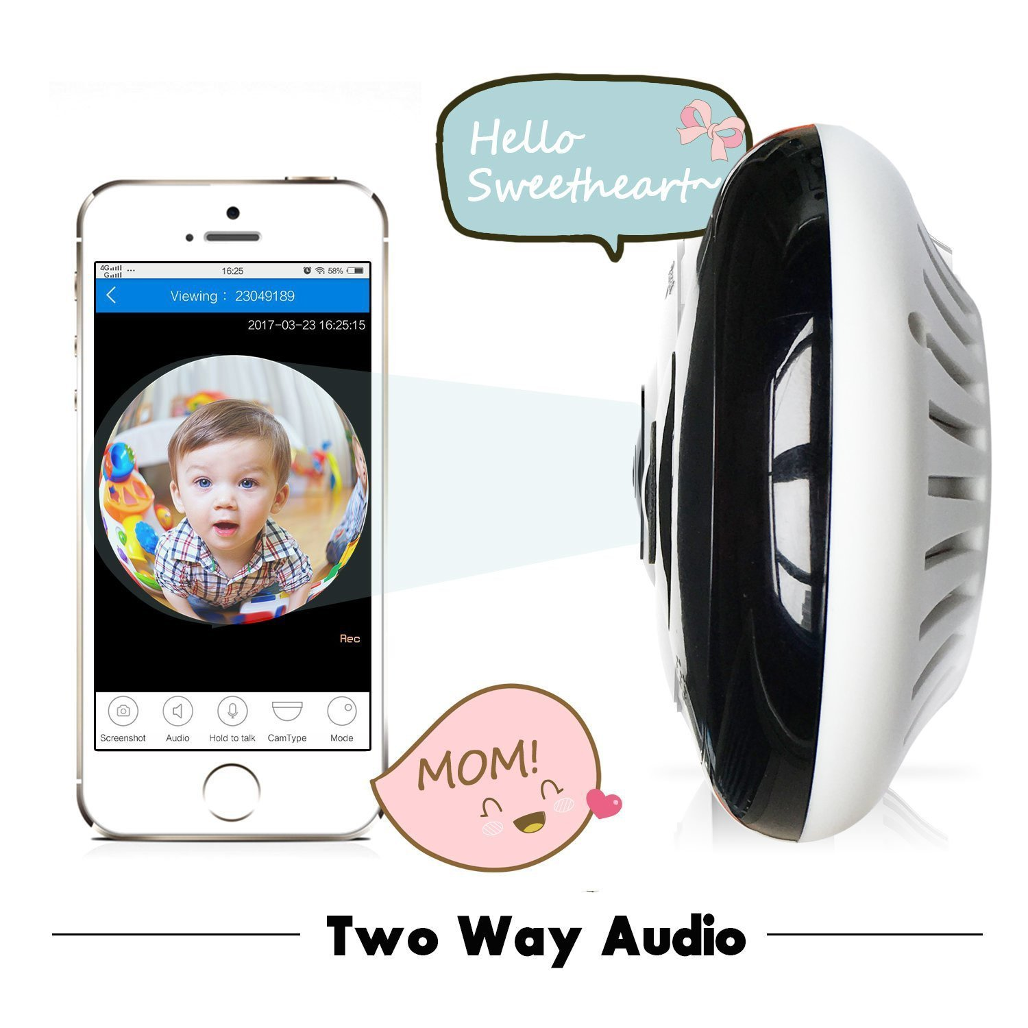 Baby monitor wireless CCTV ip camera with speaker microphone available for 3G 4G GSM mobile phone