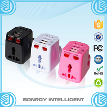 ce certificate universal travel adapter charger leakage protect electric switch international travel power adapter wholesale
