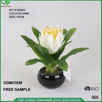 Promotional cheap mini artificial protea flowers for wedding decoration, silk fabric fake flowers