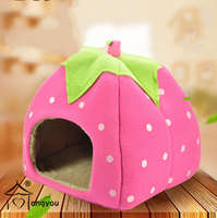 Strawberry dog tent bed,cheap dog beds,cheap pet beds