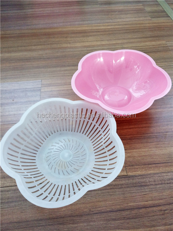 plastic double washing basket