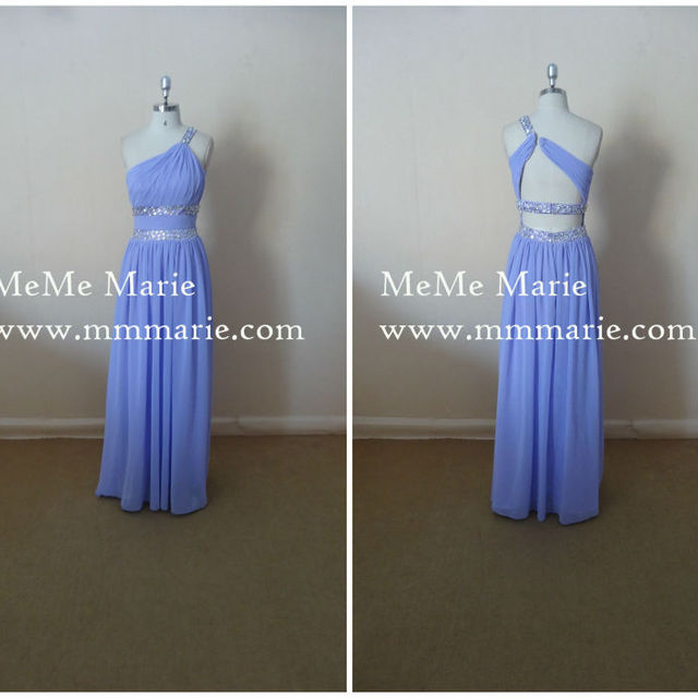 Grecian Bridesmaid Dress with Rhinest Natural Waist Evening Dress with Rhinestones Band