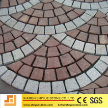 Fan patterns granite cube for compass paving stone