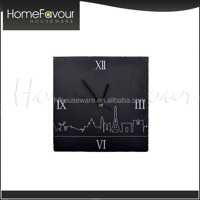 Urgent Delivery Wholesaler Slate Stone Vintage Kitchen Clocks