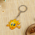 Promotional giveaways metal yellow Elves key chain ring