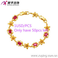 70704-xuping flower 24k gold plated jewelry special price gemstone bracelet