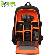 Adjustable compartments camera backpack digital camera lens accessories bag case with rain cover