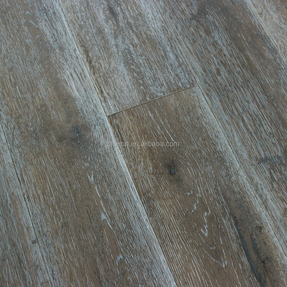 american popular wood flooring A mixed colour Smoked&100% handcrafted CARB Certification <strong>Oak</strong> 3 - ply engineered Wood Flooring