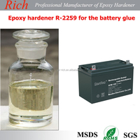 Epoxy hardener R-2259 for battery glue with excellent insulation, light color,low viscoisty,fast curing