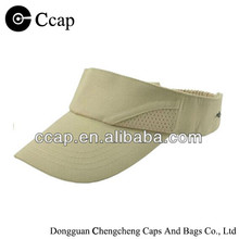 ccap-1018 polyester and cotton visor cap with embroidery