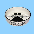 Smart Small Black White Ceramic Dog Feeder