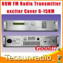 Fmuser 80W Professional FM Exciter gsm transmitter and receiver