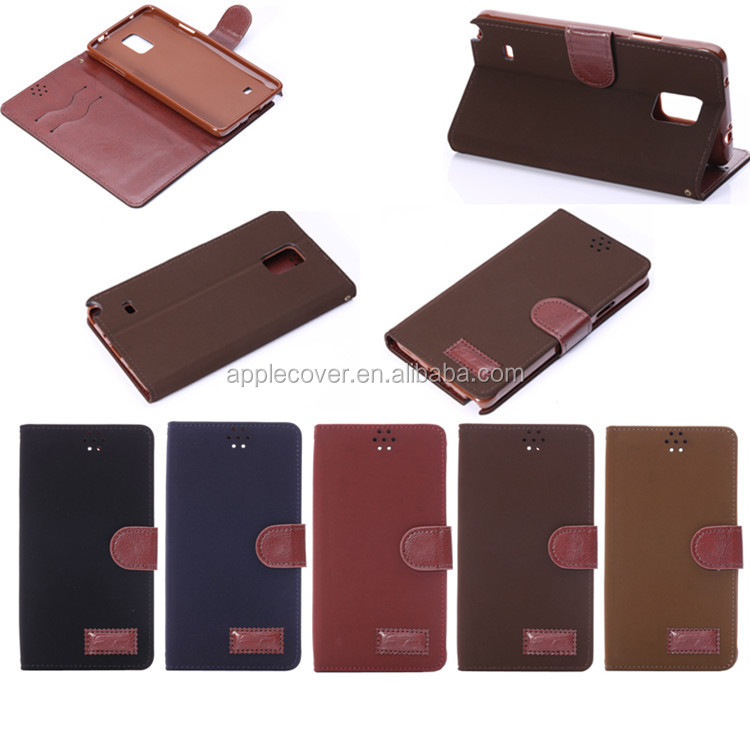 High quality Retro Leather Flip card holder wallet case for Samsung Note 4 , for Samsung Galaxy Note 4 phone cover case