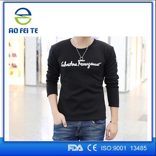 China Promotional Custom Top Quality Mens Factory Printing Cotton Long Sleeves Sports T Shirt