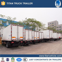 Refrigerator freezer truck semi trailer , refrigerated truck for sale