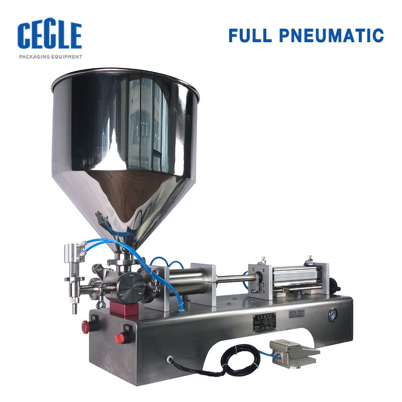 Famous brand cream filling machine/ semi automatic labeling machine/ oil filling packaging line