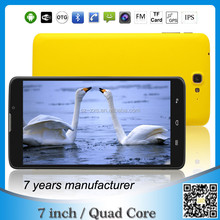 ZXS-698 7 inch quad core 3g city call android phone tablet pc software download/cheapest tablet pc made in china