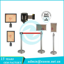 Retractable Belt Stanchion with A4 Advertising Sign Board