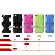 Combo Hard Silicone+PC Case Mobile Phone Covers For Iphone5C waterproof silicone+pc shell for iphone5c