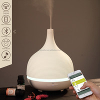 World's First Wireless Bluetooth Smart Ultrasonic Aroma Diffuser/Essential Oil Nebulizer w/ App controlled, iMist03C-Ellestfun