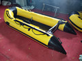 3.3m yellow Inflatable Boat With Aluminum Floor made in China for summer sport