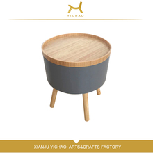 Wholesale living room fancy coffee furniture small round tea end table,stylish sidetable decoration