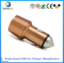 Fast speed 2 Port 2.4 A USB Travel Car Charger Adapter for iphone and Andriod