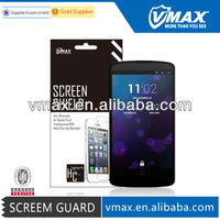 100% Factory Wholesale cell phone accessories for LG nexus 5 screen protector oem/odm (High Clear) High Quality