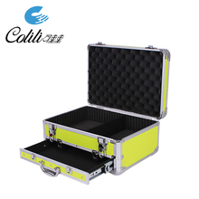 Hard equipment aluminum case carry tool box with drawers